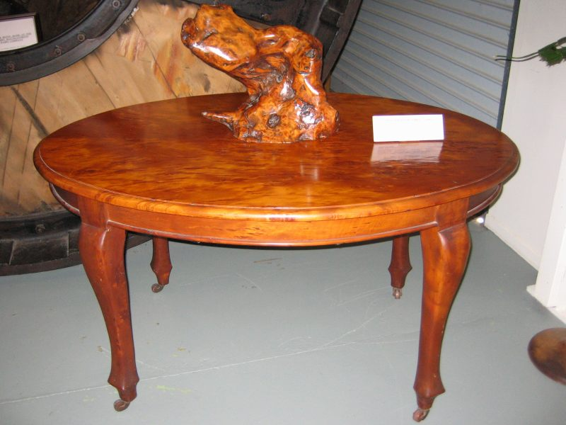 ... spotted kauri kauri table