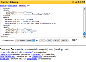 The cq explorer shows the W3C test documents.
